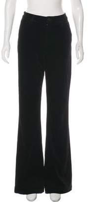 J Brand Velvet High-Rise Flared Pants