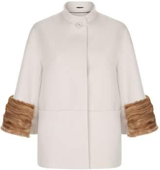 Cinzia Rocca Mink Trim Coat