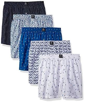 Badger Smith Men's 5 - Pack Cotton Print color Boxer Shorts S