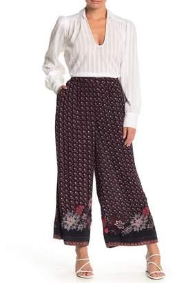 Modern Designer Wide Leg Printed Pants