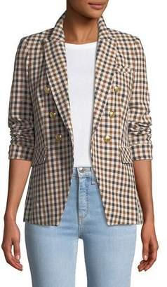 Veronica Beard Lonny Double-Breasted Check Dickey Jacket