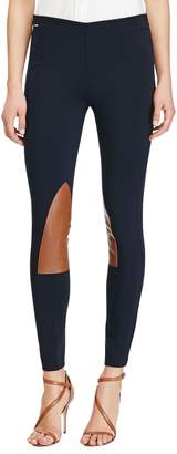 Polo Ralph Lauren Leather-Patch Jodhpur Leggings
