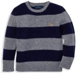 Ralph Lauren Little Boy's& Boy's Striped Wool& Cashmere Sweater
