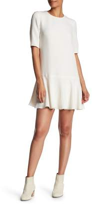 Theory Ruffle Accent Shift Dress