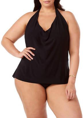 Magicsuit Plus Size Sophie Solid Halter Tankini Swim Top