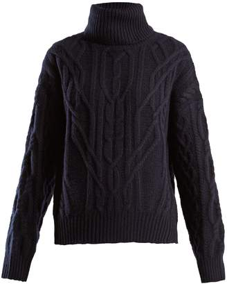 Nili Lotan Cecil roll-neck cashmere cable-knit sweater