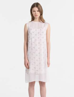 Calvin Klein silk double layer dress
