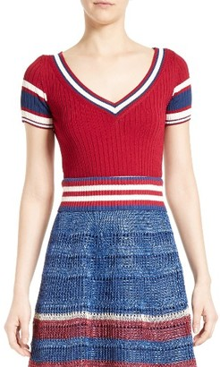 Women's Red Valentino Stripe Knit Top $395 thestylecure.com