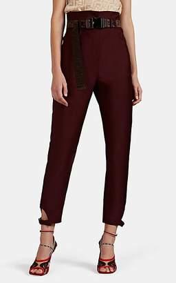 Fendi Women's Mohair-Wool Tapered Trousers - Wine