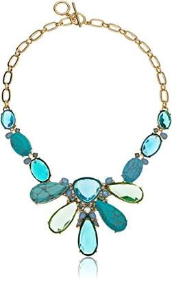 Carolee Turquoise Garden Collection Women's 16 inches Stone Frontal Single Row Necklace
