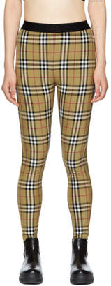 Burberry Yellow Check Belvoir Leggings