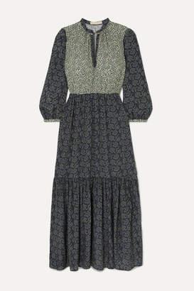 Vanessa Bruno Mabel Tiered Printed Crepe De Chine Maxi Dress