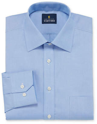 STAFFORD Stafford Executive Non-Iron Cotton Pinpoint Oxford Mens Spread Collar Long Sleeve Stretch Dress Shirt