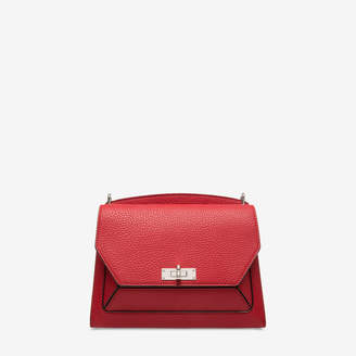 Bally Suzy Medium Red, Women's grained goat leather shoulder bag in corvette