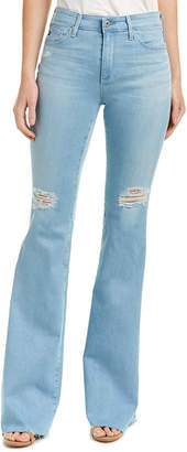 AG Jeans The Janis Light Wash High-Rise Flare Leg