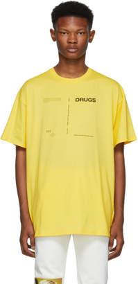 Raf Simons Yellow Regular Fit Drugs T-Shirt