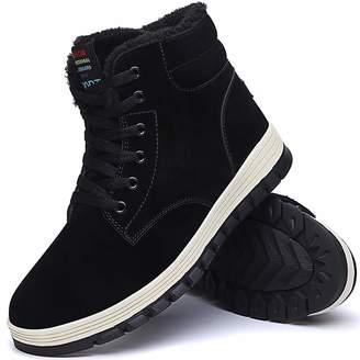 59e0719dff Aliwendy Mens Winter Snow Boots Fur Lined Warm Ankle Booties Waterproof  Slip-on Sneakers Lightweight