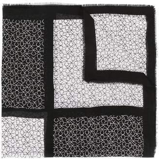 Calvin Klein colourblock monogram scarf