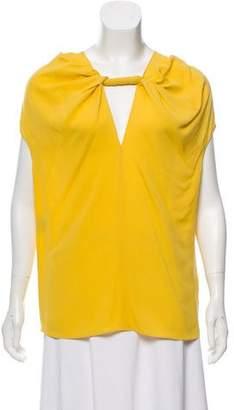 Derek Lam Silk Short Sleeve Blouse