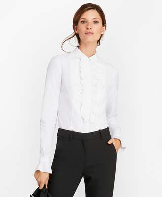 Brooks Brothers Petite Tailored-Fit Cotton Dobby Tuxedo Shirt