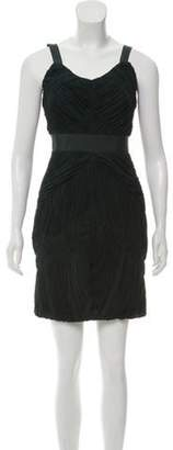 Burberry Pleated Mini Dress Pleated Mini Dress