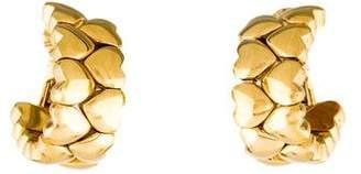 Cartier 18K Double Row Heart Earclip Earrings