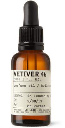 Le Labo Vetiver 46 Perfume Oil - Haitian Vetiver & Pepper, 30ml