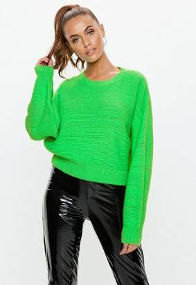 Missguided Lime Green Crew Neck Sweater