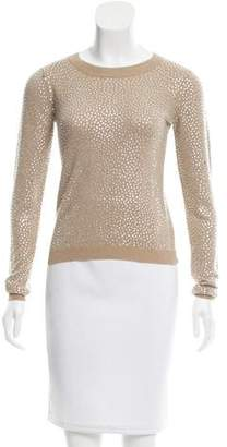 Alice + Olivia Embellished Crew Neck Sweater