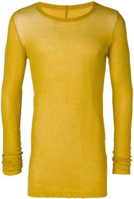 Rick Owens long sleeve long-line T-shirt