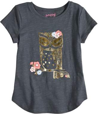 Girls 4-10 Jumping Beans Slubbed Owl Graphic Tee