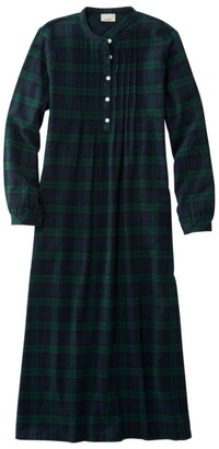 L.L. Bean L.L.Bean Women's Scotch Plaid Flannel Nightgown