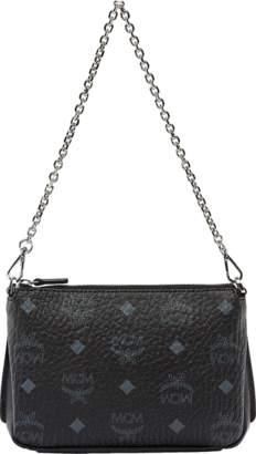 MCM Millie Top Zip Shoulder Bag In Visetos