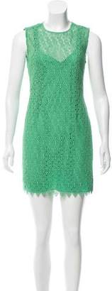 Diane von Furstenberg Crochet Mini Dress