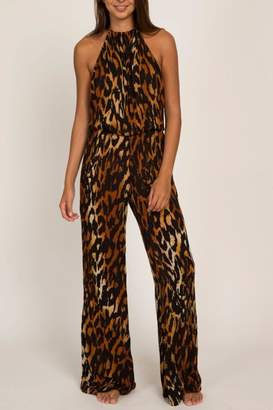 Indah Animal Print Halter Jumpsuit