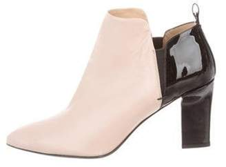 Reed Krakoff Leather Ankle Boots Champagne Leather Ankle Boots