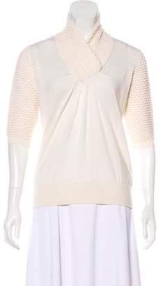 3.1 Phillip Lim Short Sleeve Wool Top