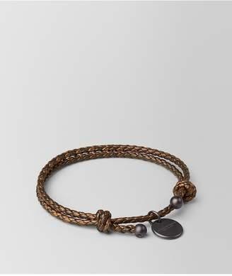 Bottega Veneta Dark Bronze Intrecciato Nappa Bracelet