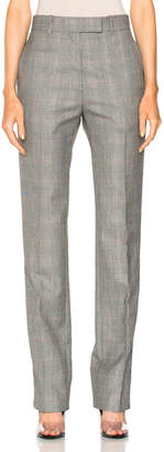 CALVIN KLEIN 205W39NYC Glen Plaid Fine Worsted Wool Trousers