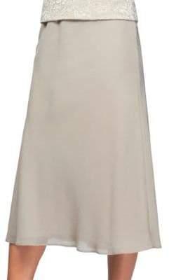 Alex Evenings Georgette A-Line Skirt