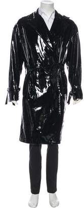 Gucci Patent Leather Overcoat