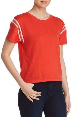 Pam & Gela Football Striped-Inset Tee
