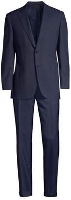 Virgin Wool Houndstooth Suit