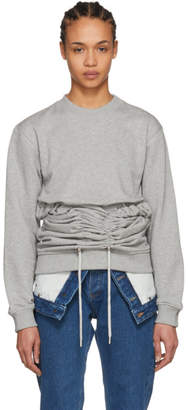 Y/Project Grey Corset Sweatshirt