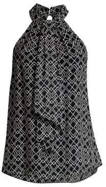 Joie Women's Leikyn Halterneck Tie Tank - Caviar - Size M