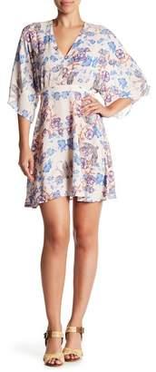 En Creme Floral Mini Dress