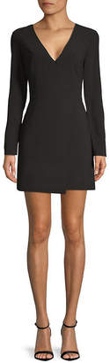 Halston Faux Wrap Sheath Dress