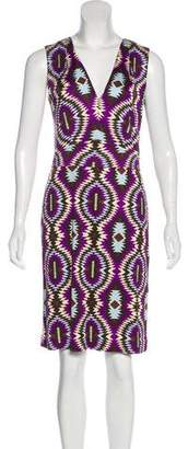 Tory Burch Geometric Print Maxi Dress
