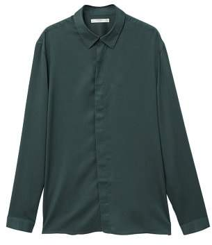 Mango Man MANGO MAN Regular-fit hidden buttons shirt