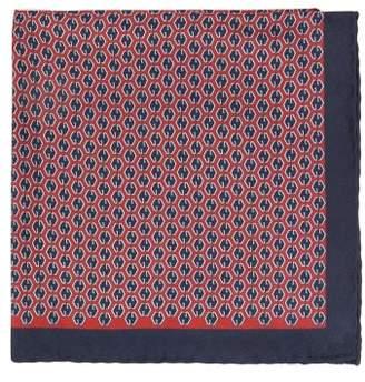 Gucci Gg Print Silk Pocket Square - Mens - Navy